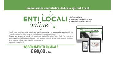 Offerta speciale 2016: un anno di abbonamento a Entilocali-online.it a soli 90 €