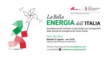 La Bella Energia dell'Italia, in Adnkronos il Forum su transizione energetica