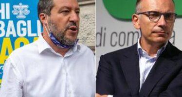 Scontro Salvini-Letta su Lamorgese e Durigon
