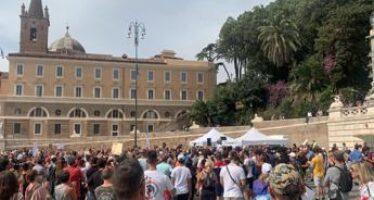 No green pass, nuova manifestazione a Roma