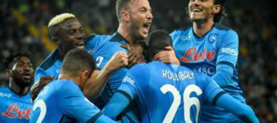 Udinese-Napoli 0-4, poker azzurro e Spalletti in testa
