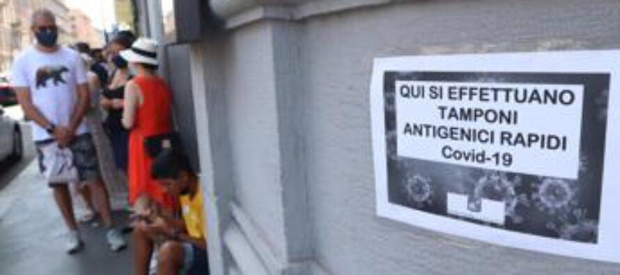 Covid oggi Lazio, 372 contagi e 12 morti. A Roma 184 nuovi casi