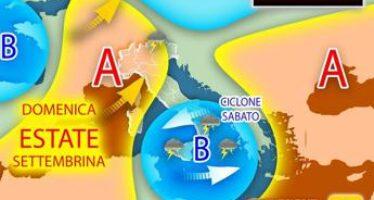Stop ai temporali, tempo stabile fino a martedì 14 settembre