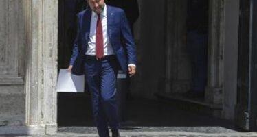 Draghi vede Salvini, incontro a Palazzo Chigi